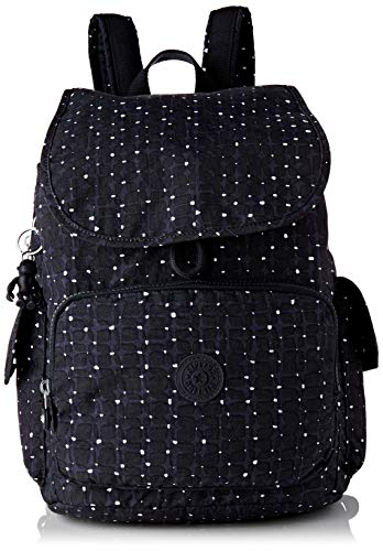 Kipling Damen City Pack Rucksack, Blau (Tile Print), 32x37x18.5 centimeters
