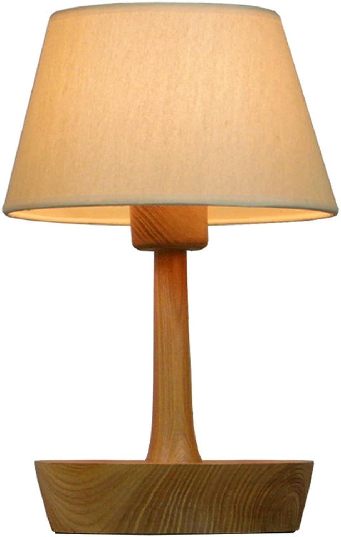 LED Tischlampe Einfache Kreative Retro Holztisch Lampe Platte Persönlichkeit Garten Schlafzimmer Nachttischlampe B07HK7SPNX   Überlegen