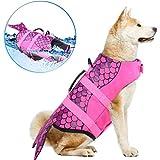 WWXXCC Vestes Dog Life Ripstop Pet Floatation Gilet de Sauvetage, Chien Gareautrain Preserver Maillot de Bain pour la sécurité de l'eau à la Piscine, Plage, Nautique
