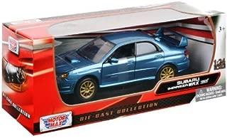 Motormax Subaru Impreza WRX STI 1/24 Scale Diecast Model Car Blue by Motormax