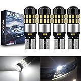 NATGIC W5W T10 168 Lampadine LED CanBus Senza Errori 3014 30SMD per Interni Auto Luci a Cupola Luci di Lettura Luci Della Targa Luci di Posizione, DC 12-24V 6000K Xenon Bianco (4 Pezzi)