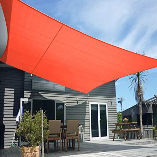 Artpuch 12' x 16' Sun Shade Sails Rectangle Canopy, Scarlet UV Block Cover for Outdoor Patio Garden Yard