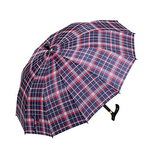 Paraplu Grace Grace - Antislipversterker krukken, wandelstok, winddichte golf voor buiten, wandelstok versierd, wandelen, opknoping uit op regent