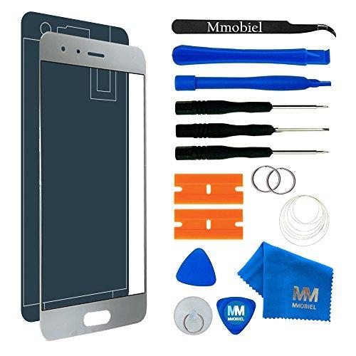 MMOBIEL Kit de Reemplazo de Pantalla Táctil Compatible con Honor 9 (Blanco) 5.15 Pulgadas Incluye Kit de Herramientas/Etiqueta precortada/Limpiador de Microfibra/Alambre Metálico
