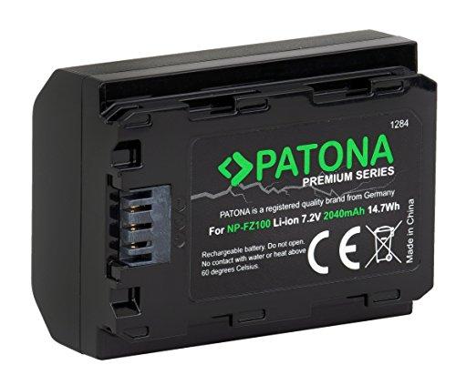 PATONA Premium Ersatz für Akku Sony NP-FZ100 (2040mAh) mit Infochip - für Sony Alpha 6600 - Alpha7 III - Alpha 7R III - Alpha 9 9R 9S - Alpha 9 II