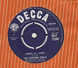 VERNONS GIRLS - FUNNY ALL OVER - 7 inch vinyl / 45 record