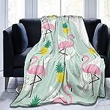 Fansu Kuscheldecke Flanell Decke, 3D Drucken Microfaser Flauschig Weich Warm Plüsch Wohndecke Fleece Tagesdecke Decke für Sofa & Bett (Flamingo,150x220cm)