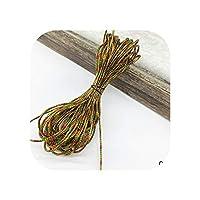 10ヤードゴールドロープ麻ひもリボンウェディングクリスマスギフトパッキングコード装飾ロープ手作りクラフト文字列パーティー供給-07