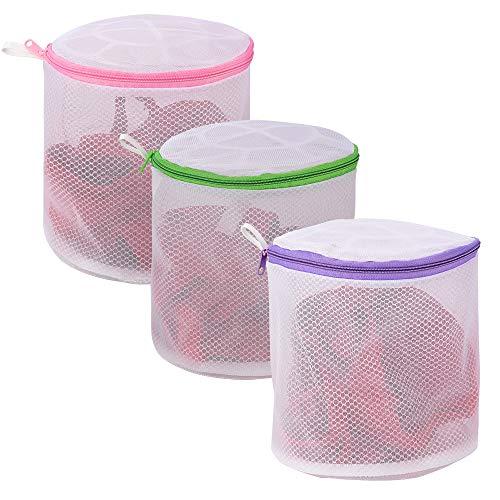 YLWEFT BH-Wäschebeutel für Wäsche, Dessousbeutel für Wäsche, Sockentasche für Waschmaschine, Unterwäsche Waschbeutel, BH-Waschschutz, Netz-Wäschesack (BH-Beutel, 3 Set)