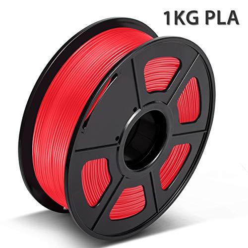 3D Warhorse PLA Rosso 1,75 mm Filamento per Stampante 3D 1 KG, Bonus con Filamento per Pulizia Ugelli