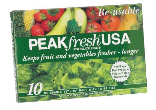Peak Fresh wiederverwendbare Beutel, 10 Stück