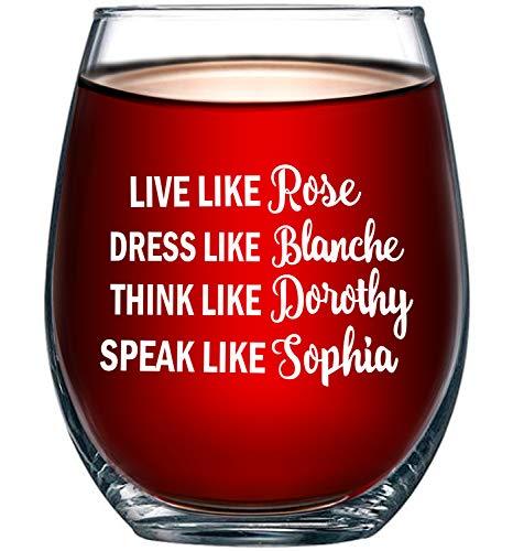 Golden Girls Funny Wine Glass 15oz - Inspired By Golden Girls Best...