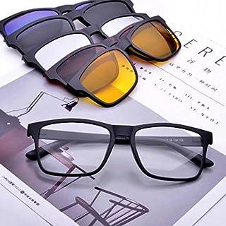 Jcerki Polarizing Sunglasses Bifocal Reading Glasses 2.75 Strengths Tr90 Lightweight Frame with 5 Interchangeable Lenses