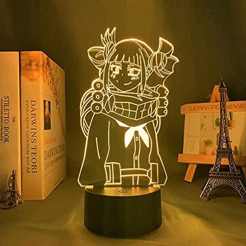3D Led veilleuse Illusion lampe Usb Anime mon héros académique Magpie Toga mène la décoration de la chambre salut fils Toga mon héros académique