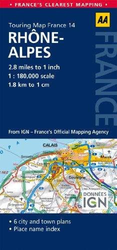 14. Rhone-Alpes: AA Road Map France (Aa Road Map France 14) [Idioma...