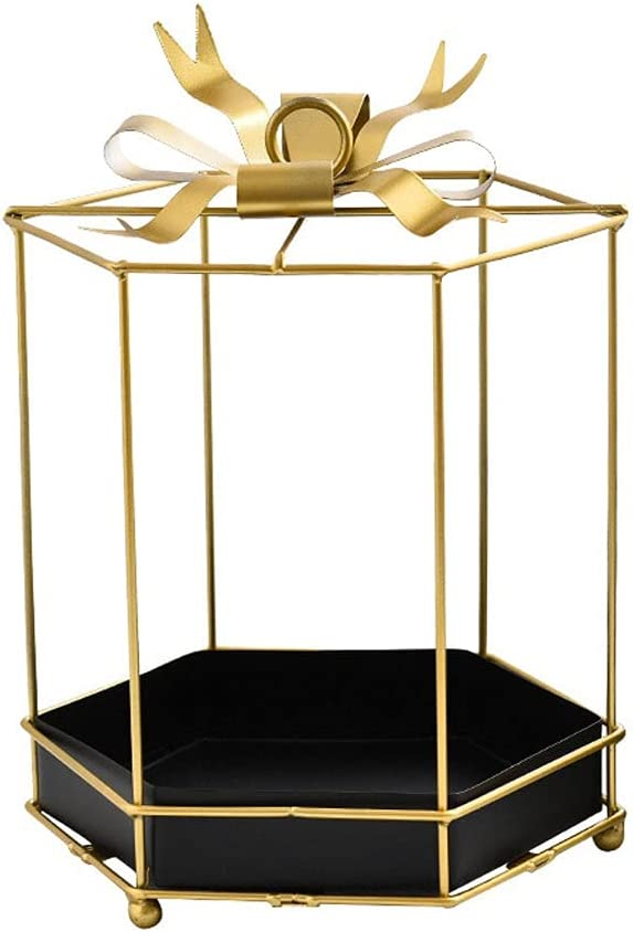 Cake stand Creative shop Metal Crafts Gold Tray Bow Ranking TOP12 W Iron Art