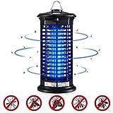 Ohuhu Elektrischer Insektenvernichter, Insektenkiller Moskito Killer Insektenvernichter Elektrisch mit LED-Licht gegen Stromschlag Tragbare Insektenlampe Mücken,Fliegen für Schlafzimmer, Küche