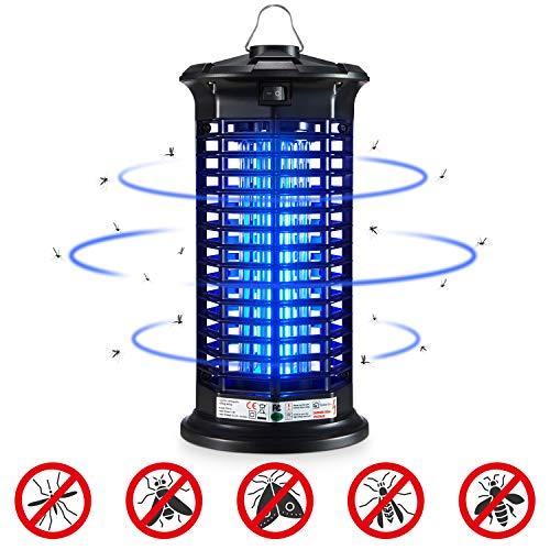 Ohuhu Elektrischer Insektenvernichter, Insektenkiller Moskito Killer Insektenvernichter Elektrisch mit LED-Licht gegen Stromschlag Tragbare Insektenlampe Mücken,Fliegen für Schlafzimmer, Küche,Gärten