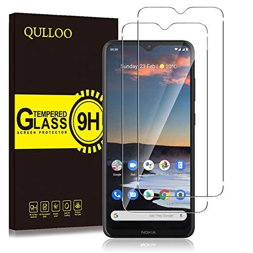 QULLOO Panzerglas für Nokia 5.3/Nokia 1.4, 9H Hartglas Schutzfolie HD Bildschirmschutzfolie Anti-Kratzen Panzerglasfolie Handy Glas Folie für Nokia 5.3/Nokia 1.4