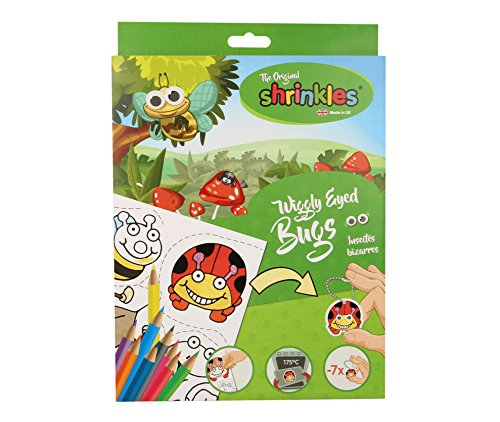 Shrinkles- Originale Wiggly Eyed Bugs Plastica Termoretraibile Crafts Nuovo Box, Colore Unknown, WZ009