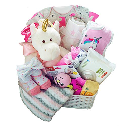 Baby Girl Gift Basket - Newborn Essentials Baby Must Haves Gift Set Great for Baby Shower Gifts and Welcome Baby Home - Baby Girls Gifts Ideas