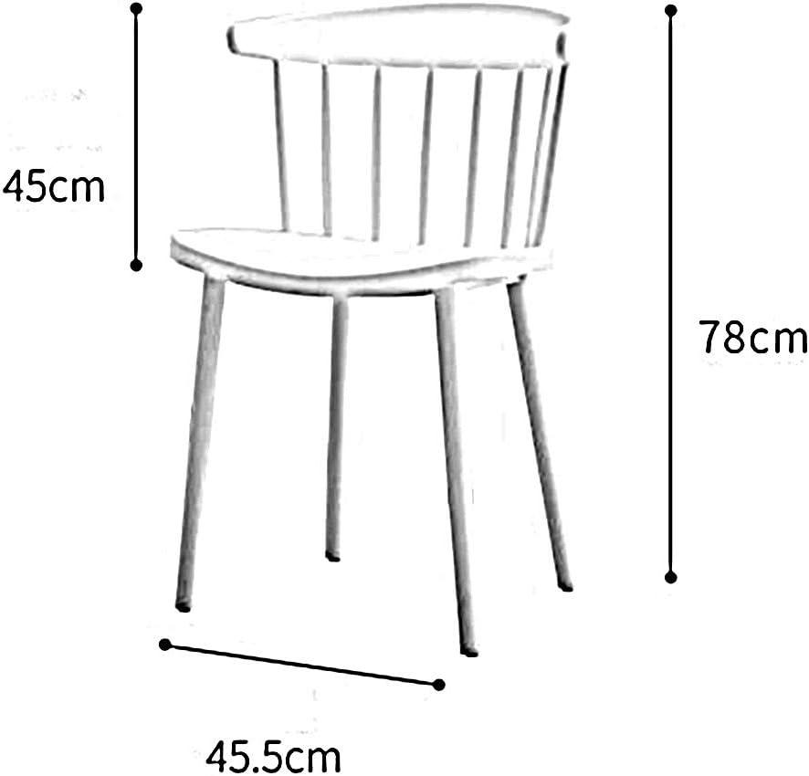 WFF Chaise de Bureau Restaurant Restaurant de Balcon de Conception Physique Simple d'assemblage Nordique de Style Nordique de Chaise, polypropylène (Color : G) F