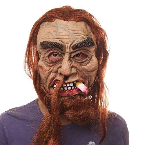 AYLWKS Masker Zware Roker Griezelig voor Halloween Party Haunted House Decoration Party Masker Halloween Latex Maskerade Masker