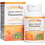 CurcuminRich Double Strength Theracurmin by Natural Factors, Supports Natural Inflammatory Response, Joint and Heart Function, 60 Capsules (60 Servings) (FFP)