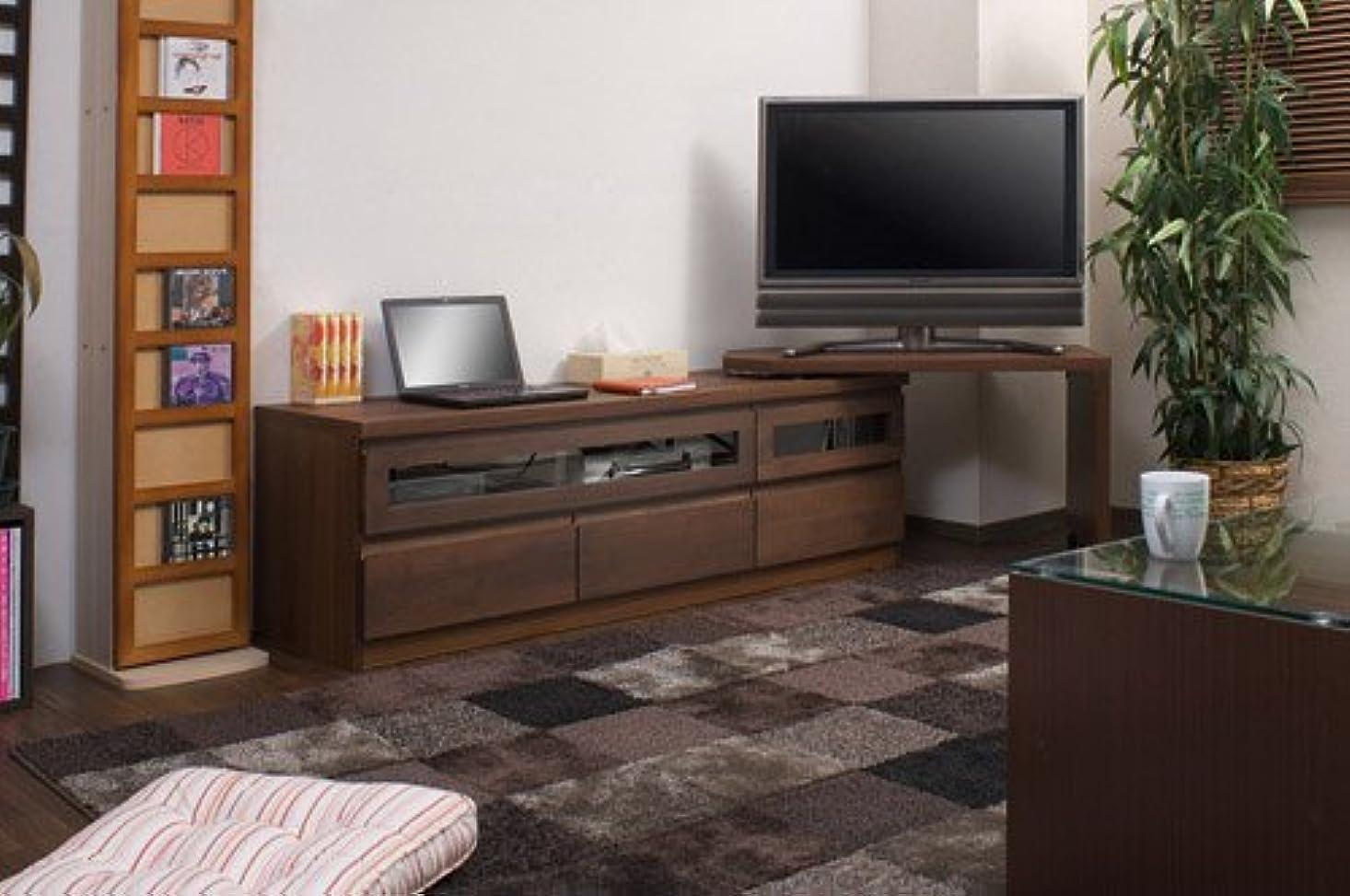 その後同封する繁雑ダークブラウン色 (アルダー材テレビボード回転盤付 150.5cm幅) TE-0010