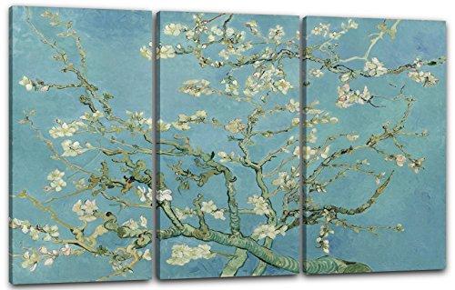 Printed Paintings Impresión sobre Lienzo 3 Partes (120x80cm): Vincent Van Gogh - Rama de Almendro