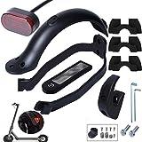Poweka Accessoires xiao-mi m365 de Support de Garde-Boue arrière pour Scooter Xiao-mi M365 / M365 Pro avec Crochet Avant, feu arrière, amortisseurs de Vibrations, Housse en Silicone étanche