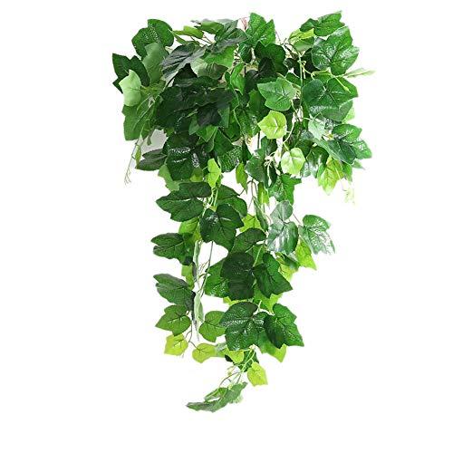 Beito Künstliche Simulation Creeper-Grünpflanzen Für Jäten Hausgarten-Fenster Treppen Dekoration Kunststoff Künstliche Reben Rattan Pflanze Efeu (Weinblätter)