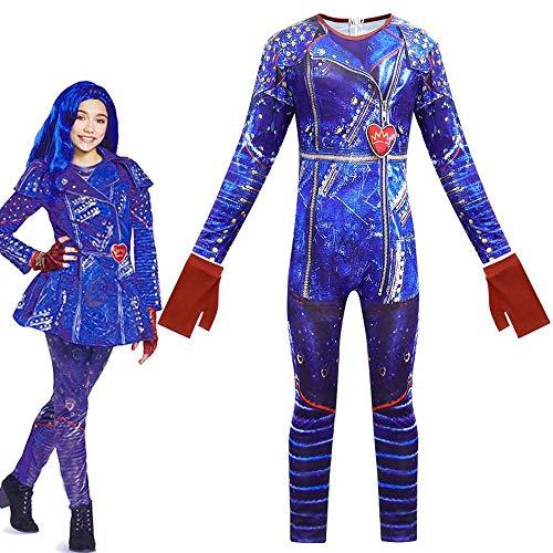 KIDSCOSPLAY Mono Niños Halloween Cosplay Traje De Mascarada rol De Vestuario Blue-140