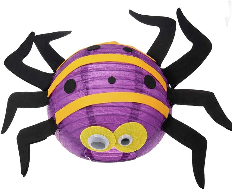 Wsjwj Nachtlichter & Schlummerleuchten Halloween-Spaß-Laternen-Kindergarten-Kinderhandgemachte tragbare Laternen, Spinnen-Laternen B07HNFMKDX Einfach zu bedienen      Erschwinglich