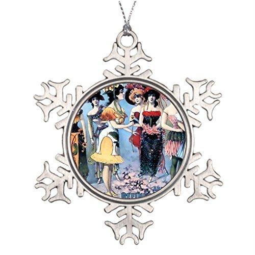 Cukudy Boomtak Decoratie Vintage Performers Vrouwen Kostuums Ideeën Voor het verfraaien van kerstbomen Vintage