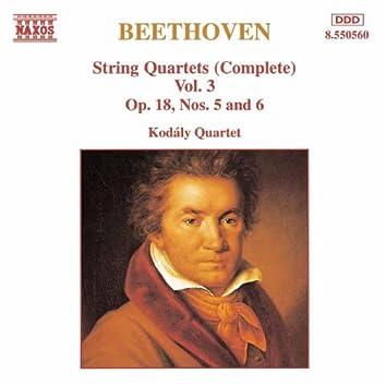 BEETHOVEN: String Quartets Op. 18, Nos. 5 and 6