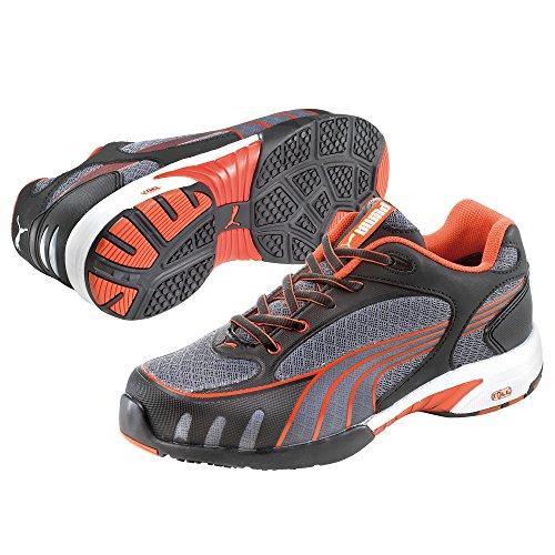 Puma Safety Shoes Fuse Motion Red Wns Low S1 HRO SRC, Puma 642870-805 Damen Espadrille Halbschuhe, Grau (grau/rot 805), EU 40