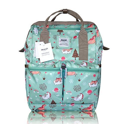 Himawari - Mochila para la escuela impermeable, bolsa de viaje vintage para mujer, portátil de 13 pulgadas para estudiantes (MAGRE)