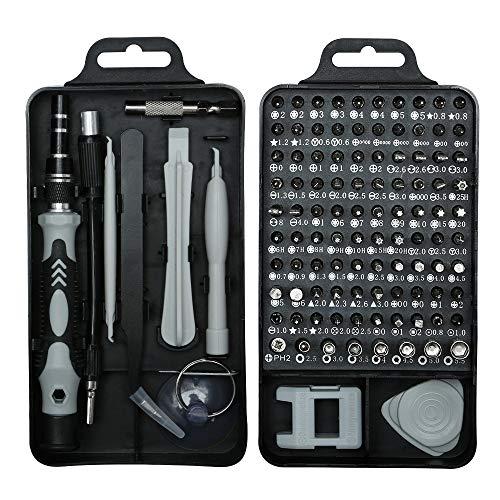 115 en 1 Kit de herramientas de reparación Destornillador Kit de accesorios Destornilladores de precisión Set para iPhone portátil PC reloj gafas Mini DIY mano trabajo reparación herramientas