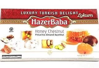 HazerBaba Turkish Delight with Honey Chestnut, Pistachio, Al