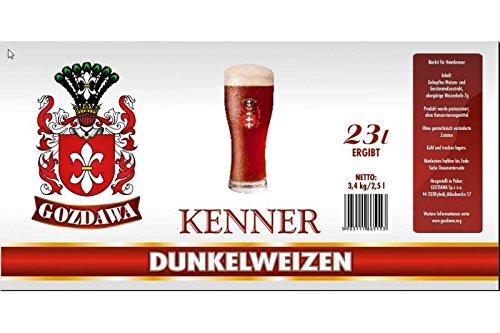GOZDAWA Dunkelweizen - 3,4 kg Bierkit zum Bier brauen bis 23 Liter Braukit - obergärig