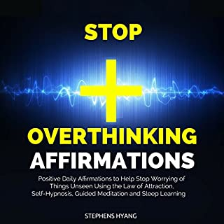 Stop Overthinking Affirmations audiobook cover art