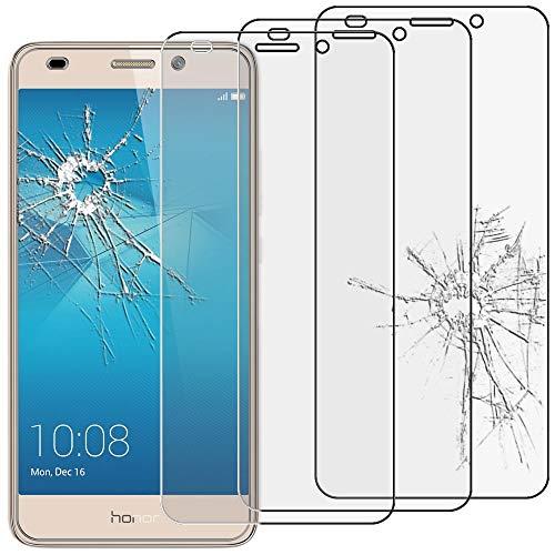 ebestStar - kompatibel mit Huawei Honor 5C Panzerglas x3 Schutzfolie Glas, Schutzglas Bildschirmschutz, Bildschirmschutzfolie 9H gehärtes Glas [Honor 5C: 147.1 x 73.8 x 8.3mm, 5.2'']