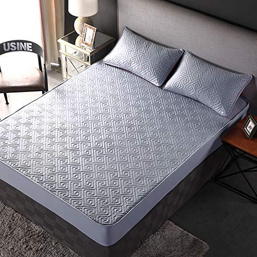 HAIBA Luxury Bedding - Sábanas bajeras ajustables de 100% algodón, color individual, doble, king y superking, 135 x 200 x 30 cm