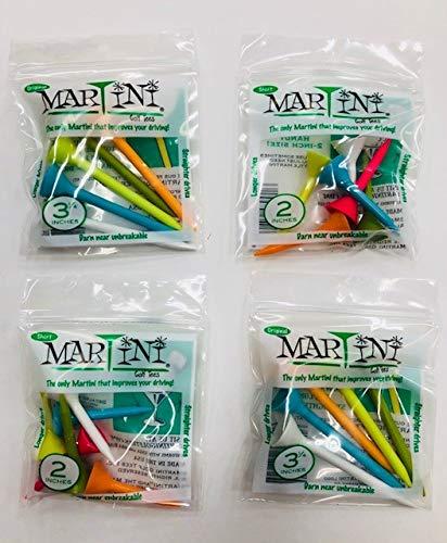 Martini Golf Tees Combo 4- Pack. 3-1/4'' Original & 2'' Original