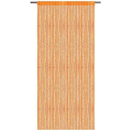 Bestlivings - Cortina de hilos con barra de tracción, cortina con aspecto de lurex, artículo decorativo en muchos colores y tamaños, poliéster, Naranja – Marigold., 90 x 200 cm