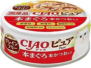 Inaba-Ciao Pure-Tuna Bonito, 24 Cans, 70 Grams