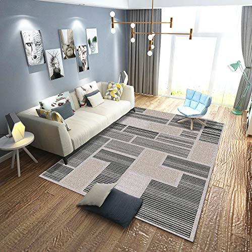 Moderno Resumen Alfombras de área Sala Cuarto Manta Alfombras Clásico Geométrico Impreso Suelo Esteras Negro Blanco Alfombras (Color : B, Size : 80x160cm)