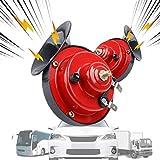 MEIREN Train Horn for Truck, 2PCS Truck Horn, Electric Snail Horn Loud Car Horn 12V Air Horn for Truck Motorcycle Train Boats