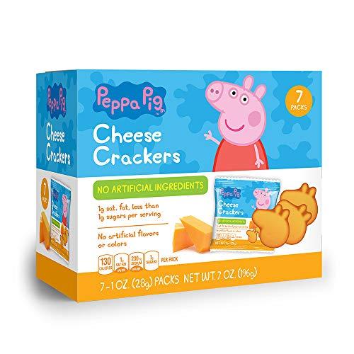 Peppa Pig Shaped Cheese Crackers 7pk